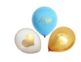 Ballonnen, It's a Boy, Oh baby, 3 stuks