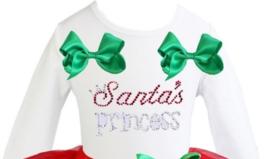 Longsleeve Kerstmis Santa's princess