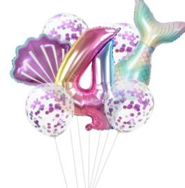 Zeemeermin ballonnenset 4 jaar