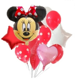 Minnie Mouse ballon set ROOD (12-delig)