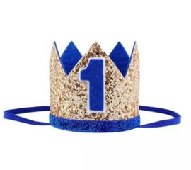 Kroon blauw/goud 1 jaar