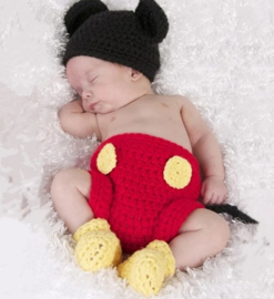 Mickey Mouse rood 3-delig