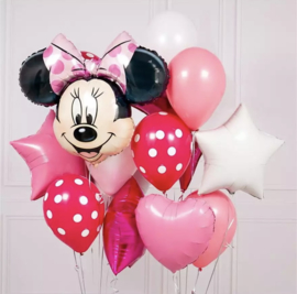 Minnie Mouse ballon set ROZE (12-delig)
