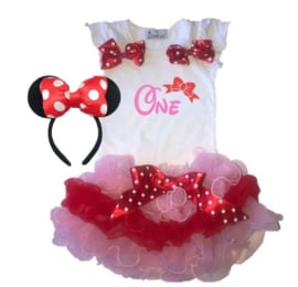 Minnie Mouse set tutu One  (3-delig)