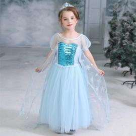 Luxe prinsessenjurk Frozen met cape