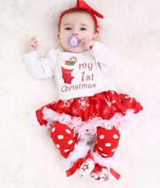 Babyjurk My first Christmas  (4-delig)