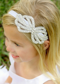 Haarband strass, wit