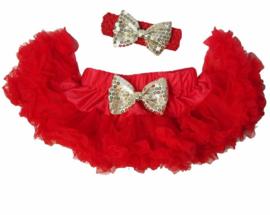 Pettiskirt Rood + haarband