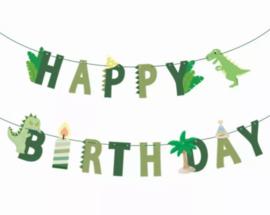 Banner Happy Birthday, Dino