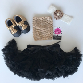 Babyset zwart-goud (4 delig)