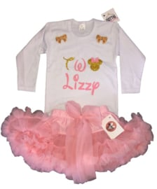 Minnie Mouse TWO + NAAM luxe tutu (3-delig)