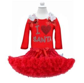 Kerst set rood 'I love Santa' (2-delig)