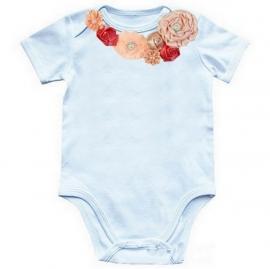 Baby shirt Peach/Strawberry Ice