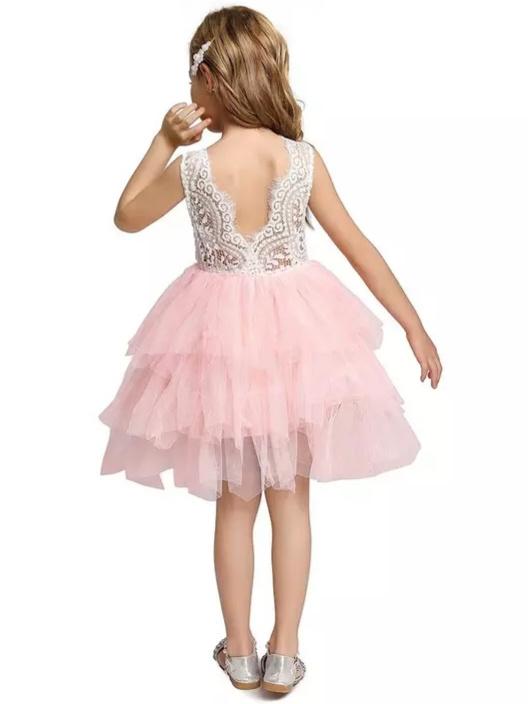 Romantische jurk kant BLOSJES tule