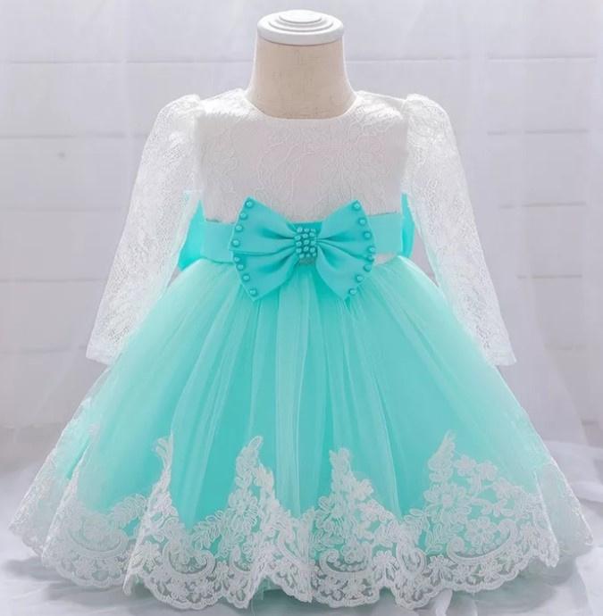 Luxe jurk kant MINT