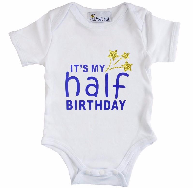 Verjaardag romper It's my Half Birthday