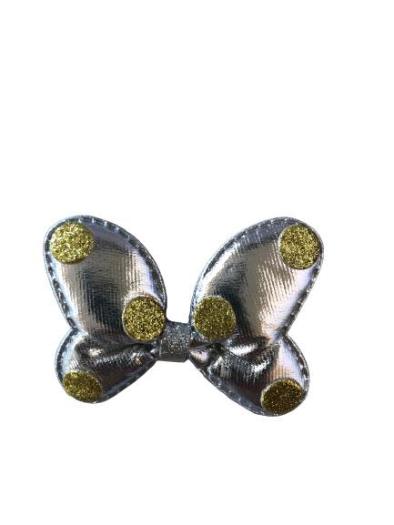 Minnie Mouse haarclip zilver/goud
