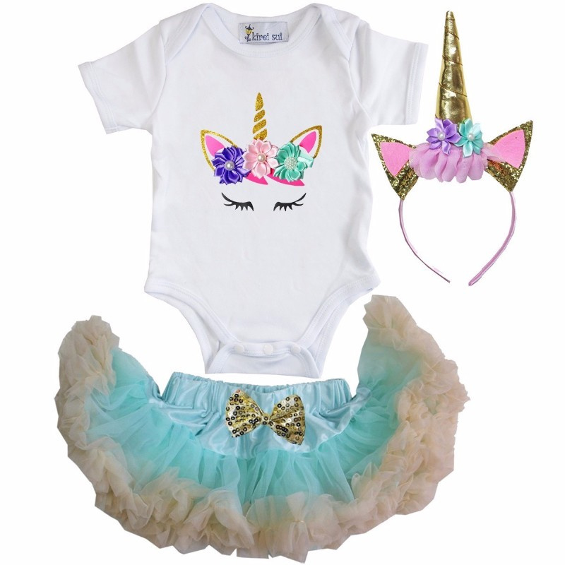 Unicorn set ogen mint