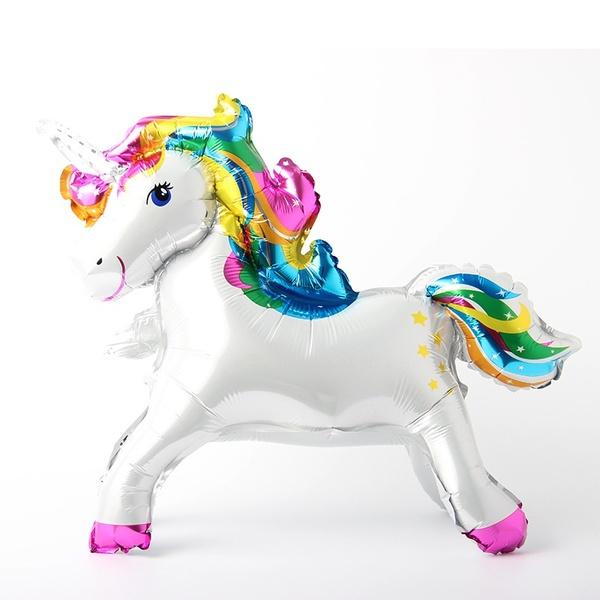 Unicorn Folie Ballon - regenboog