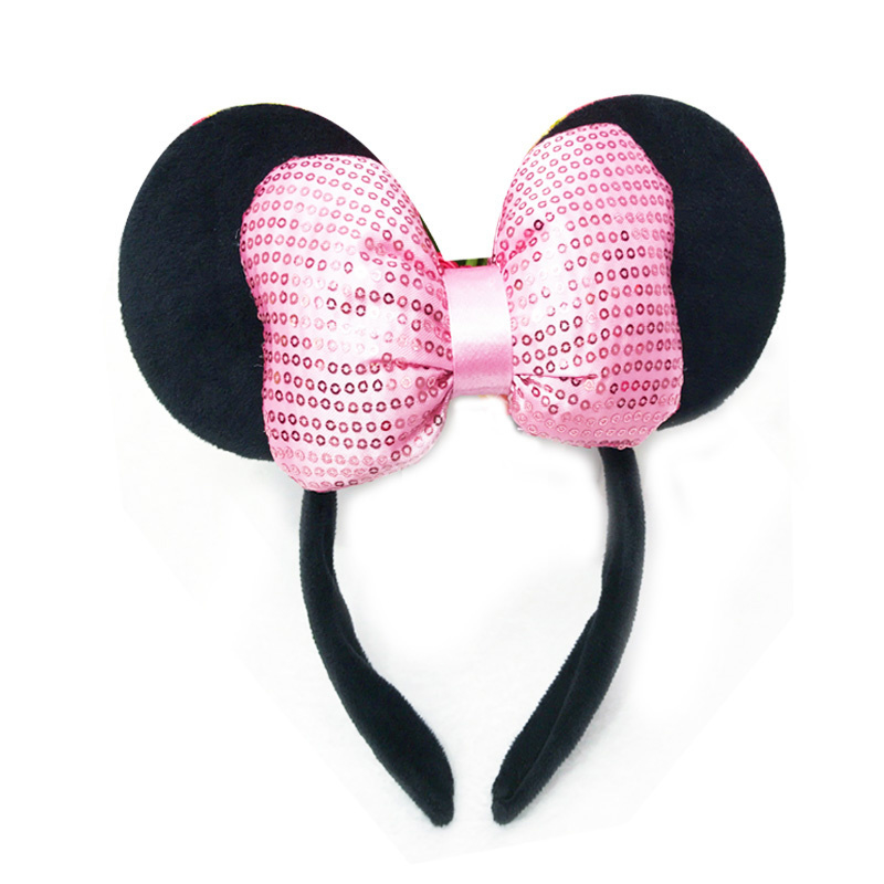 Minnie Mouse glitter diadeem roze 3D luxe