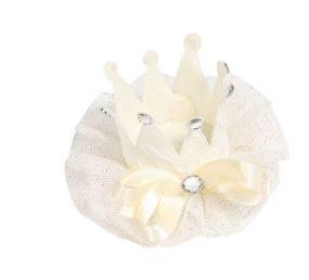 Luxe haarclip ivoor met kant