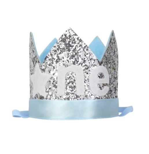 Haarband FROZEN kroon blauw ONE
