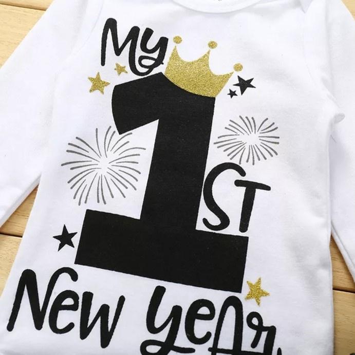 Tutu set My 1st New Year  (4-delig)