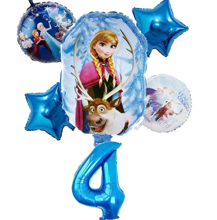 Frozen ballonset 4 jaar (6-delig)