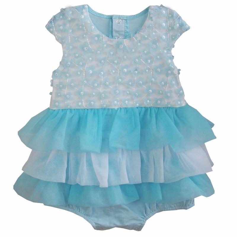 Babyjurk blauw glittertjes