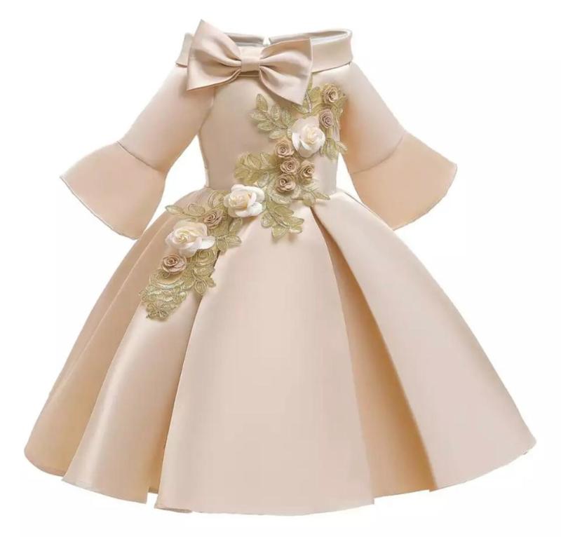 Galajurk champagne glanzende jurk