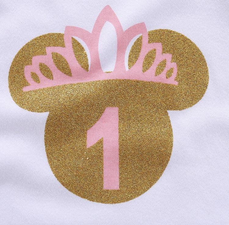Minnie Mouse verjaardagset roze 1 jaar