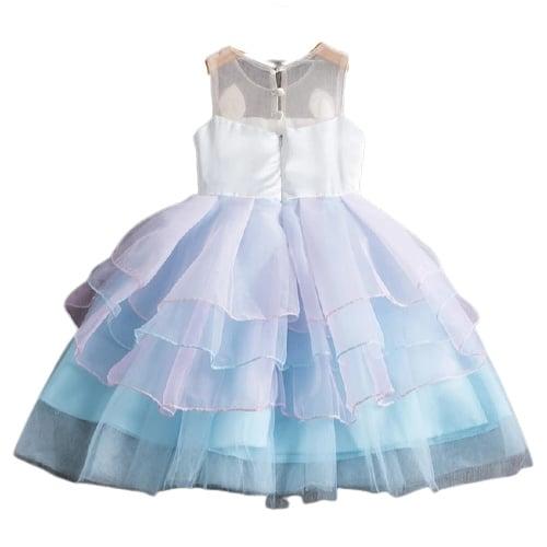 Unicorn jurk BLAUW