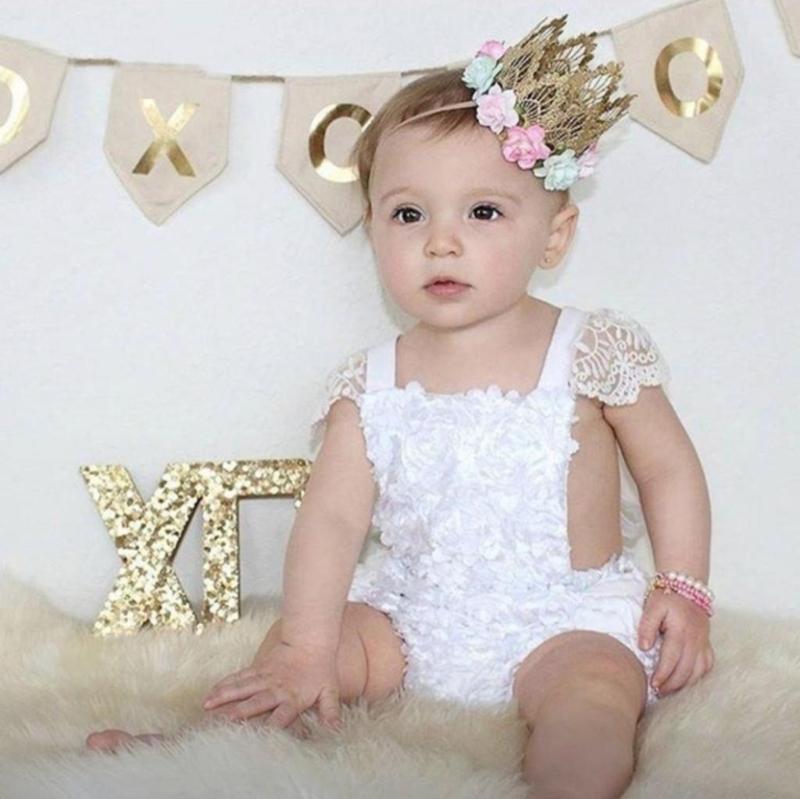 Fotoshoot babypakje wit kant