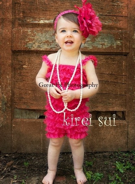 Baby Jumpsuit kant Pink