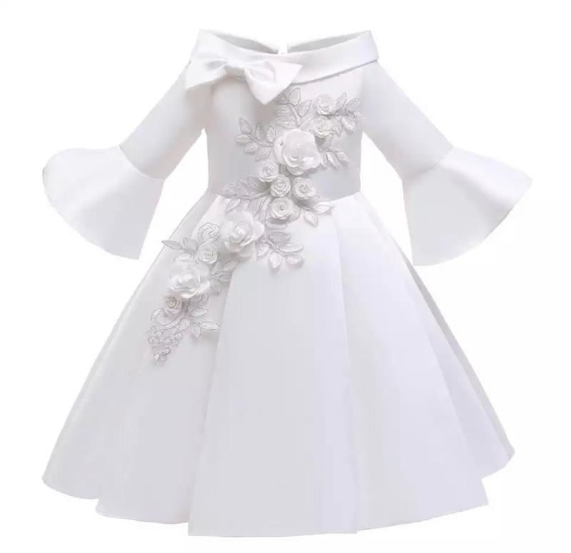 Galajurk wit  glanzende jurk