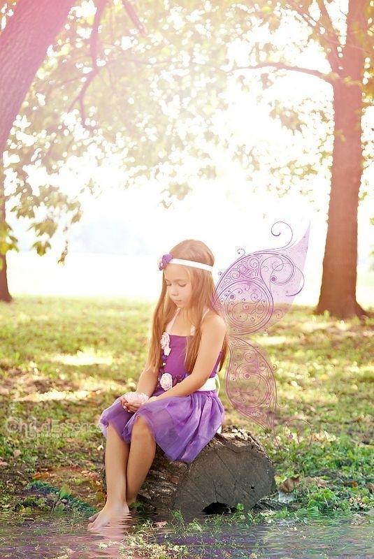 Prinsessenjurk paars + bloemen riem