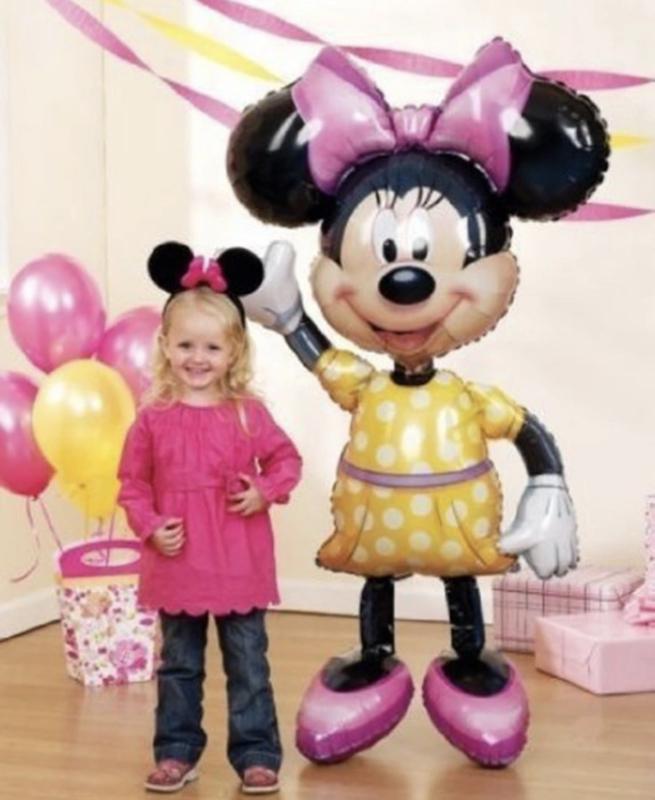 Minnie Mouse gele jurk folie ballon 112 CM