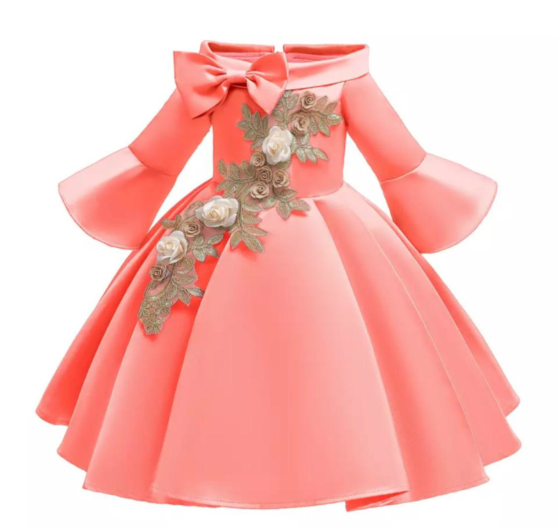 Galajurk watermeloen glanzende jurk