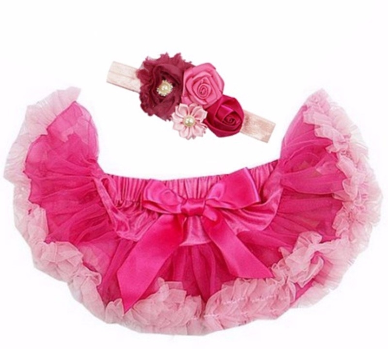 Pettiskirt Pink/Roze + haarband