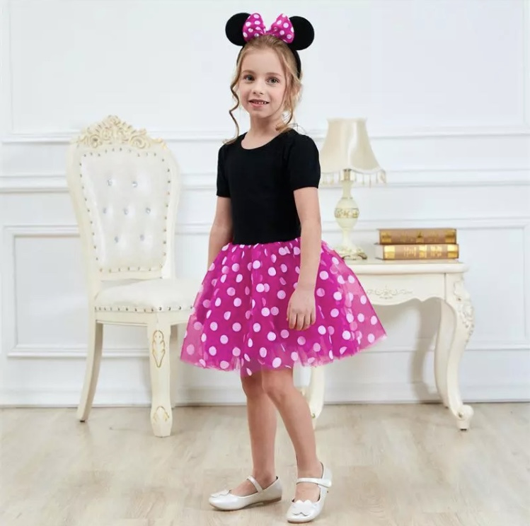 Minnie Mouse jurk roze (2-delig)