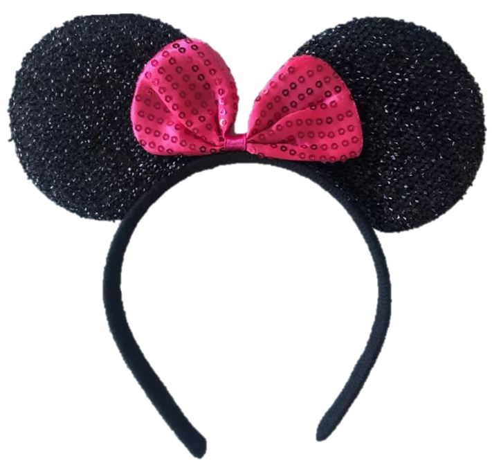 Minnie Mouse PINK glitter diadeem luxe