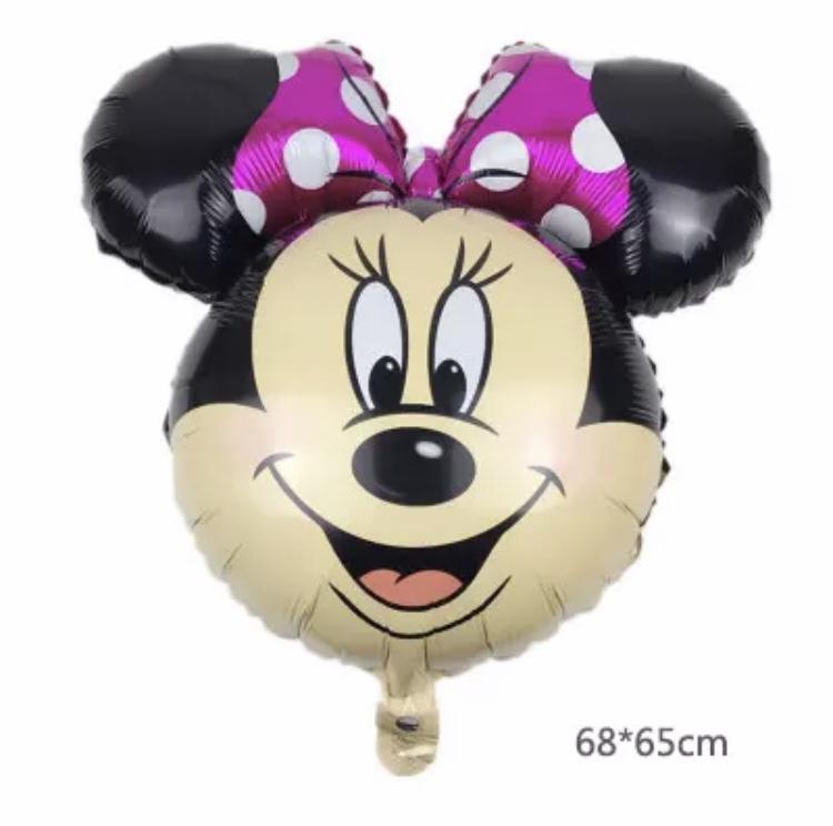 Minnie Mouse hoofd folie ballon roze XXL
