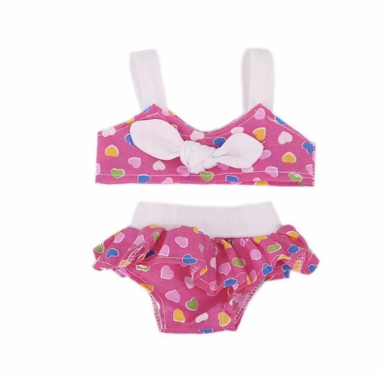 Poppen bikini roze