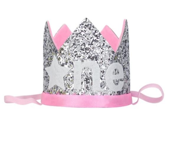 Haarband FROZEN kroon roze ONE