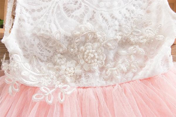Romantische jurk met ROZE tule