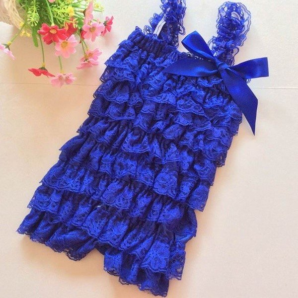 Baby Jumpsuit kant Blauw