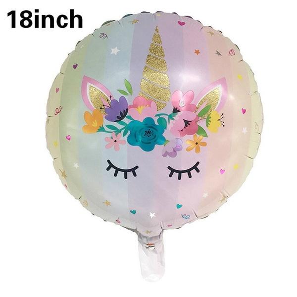 Folie Ballon Unicorn 6 jaar (5 stuks)