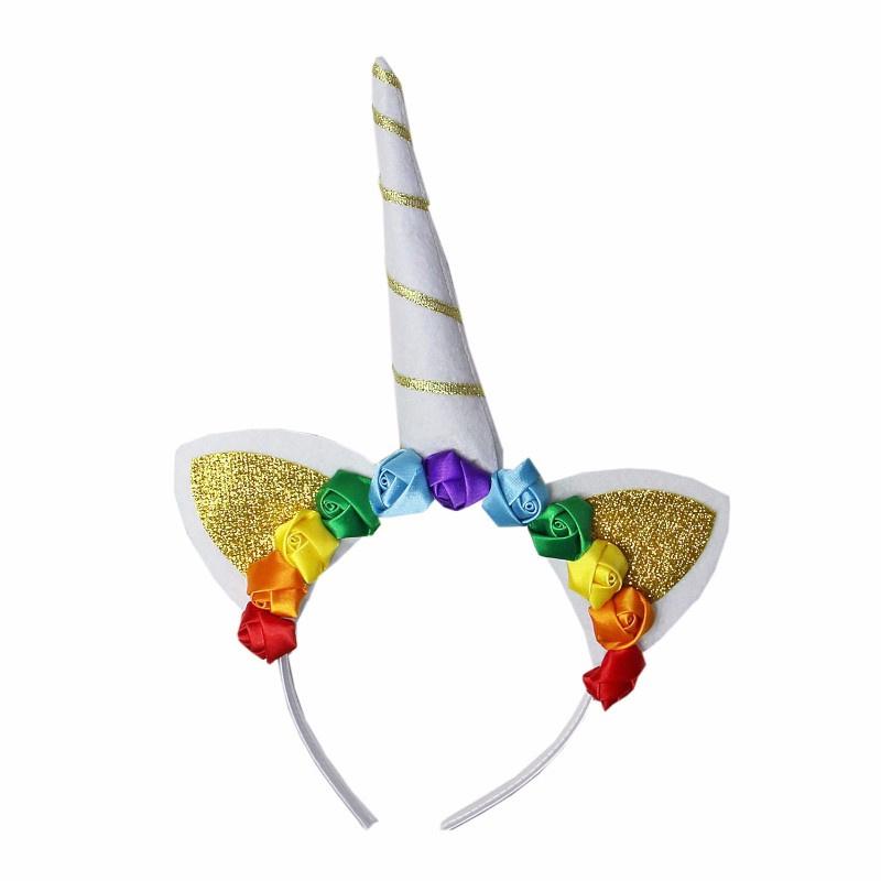 Unicorn diadeem regenboog