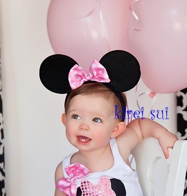 Minnie Mouse roze diadeem luxe
