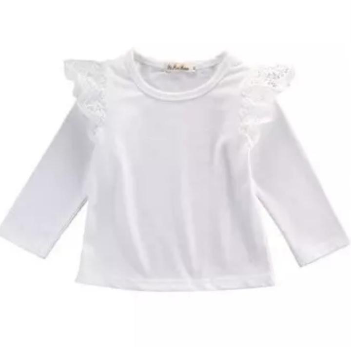 T-shirt met lange mouw wit